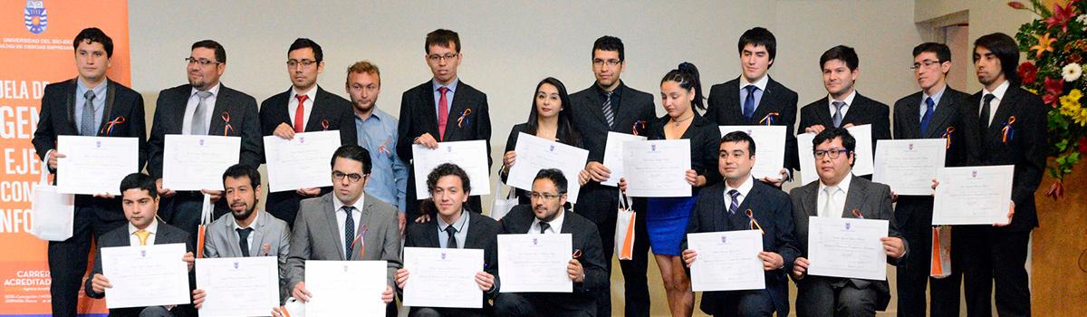 Ingenieros informáticos de la UBB recibieron sus diplomas de título